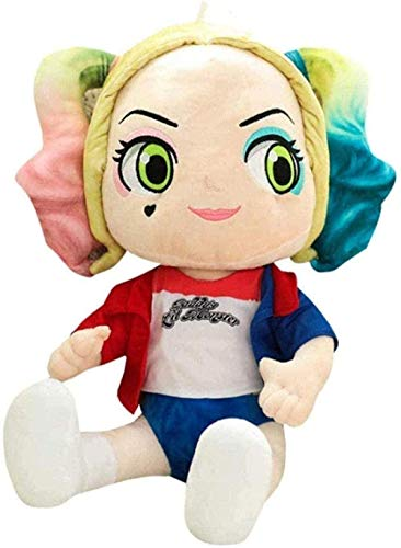 N-R Plush Toys Cartoon Anime Suicide Squad Harley Quinn Cotton Soft Little Girl Doll Toy for Baby Girls 25 cm