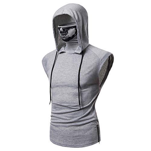 SANFASHION Herren Tanktop Tank Top Tankshirt T-Shirt,Mix Hooded Mask Skull Tops...