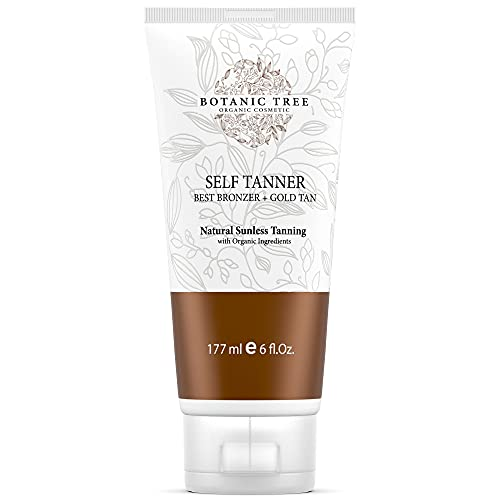 Botanic Tree Self Tanner-Organic Sunless Tanner for Natural-Looking Fake Tan-Herbal Self Tanning...