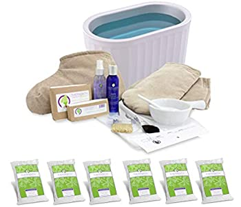 Therabath Professional Paraffin Wax Bath Super Combo Accessory Kit + Hand and Foot Pro ComforKit TB6 by WR Medical - 6lbs Lavender Harmony