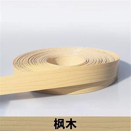 NO LOGO 1pc 10M Self Adhesive Möbel Holzfurnier Dekorative Kantenanleimmaschine PVC for Möbel Cabinet Office Tabelle Holzoberfläche Edging (Farbe : H)