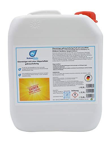 test Kaiser Rein Professioneller Fensterputzer mit Lotus Spray, 5L Flasche, Nachfüllbereit Deutschland