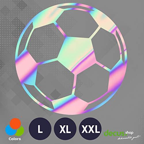 Decus Football Soccer Fußball XL 0217 (Oil Slick Hologramm) // Sticker OEM JDM Style Aufkleber