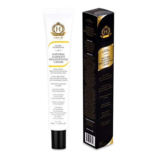 """HYDROGENIX Natural Flawless Brightening Cream for Face - Moisturizes, Nourishes, and Brightens the Skin. Powered by Hydrogen Water, Super Antioxidants. A Brightening Cream like NO other! Anti-Aging, Anti-Wrinkle and Creates Flawless """"GLASS LIKE"""" Complexion. So Good, it can be a replacement for Makeup!"""