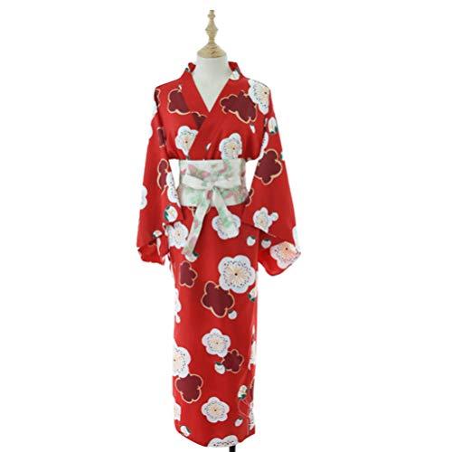 Heallily Costumi da Donna in Kimono Floreale Kimono in Costume da Lingerie in Costume Cosplay in Abito Yukata