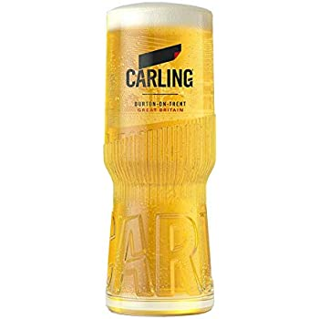 Personalised Half Pint Carling Branded Lager Beer Glass With Gift Box Engraved