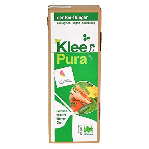 KleePura der NATURLAND Bio Dünger aus 100% Bio Klee – 1,75 kg, rein pflanzliches (vegan) Bio Düngemittel, organischer NPK Dünger - ideal für Tomaten, Gemüse, Kräuter, Obst, Blumen und Grünpflanzen