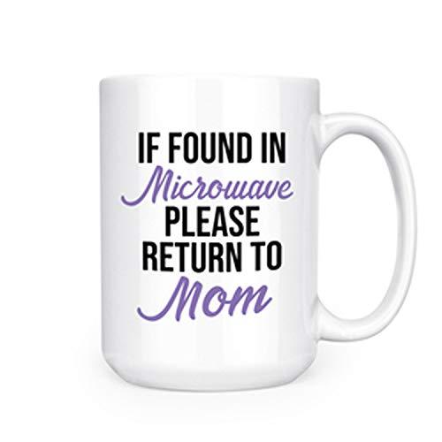 indien gevonden in magnetron gelieve terug naar Moeder - 15 oz Deluxe dubbelzijdige koffie thee mok