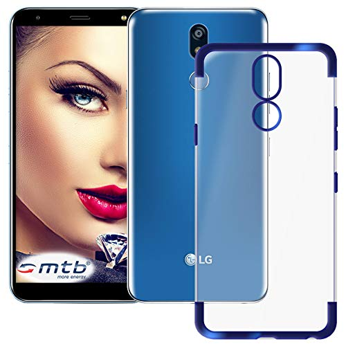 mtb more energy® Funda TPU Elegance para Huawei LG K40 (LM-X420, 5.7'') - Azul - Frame Marco Case Cover Estuche