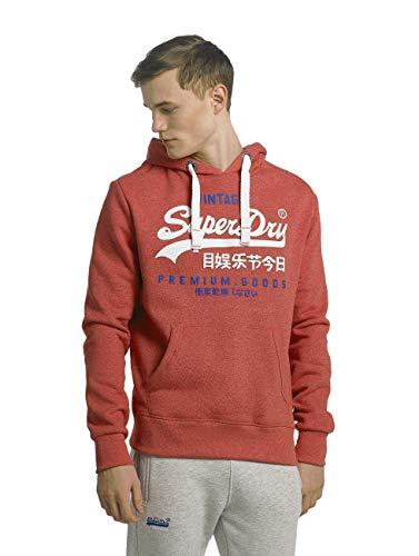 Superdry Herren Sweater Premium Goods Duo Worn Red Grit, Größe:M