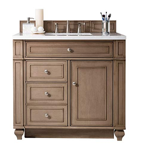 James Martin Bristol 36' Single Bathroom Vanity in Whitewashed Walnut (Top Not Included)