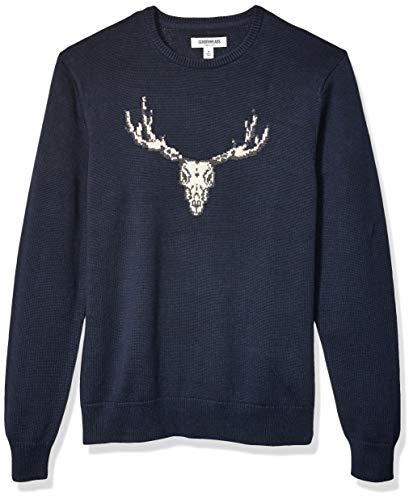 Amazon Brand - Goodthreads Men's Soft Cotton Graphic Crewneck Sweater, Skull Small