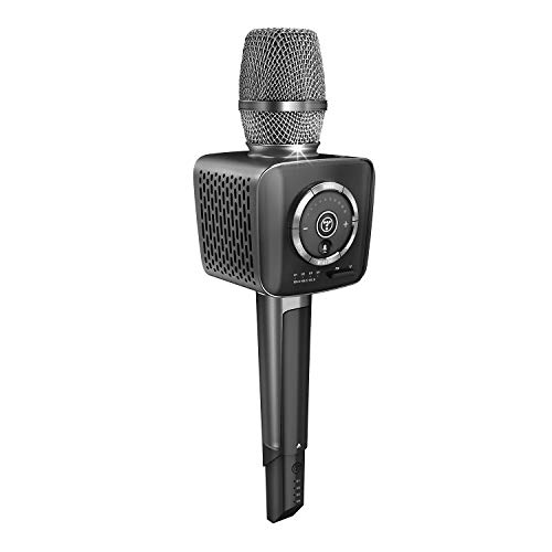 TOSING V1 Wireless Bluetooth Karaoke Microphone,3-in-1 Portable Handheld karaoke Mic New Year Gift Home Party Birthday Speaker Machine for iPhone/Android/iPad/Sony, PC and All Smartphone (Schwarz-1)