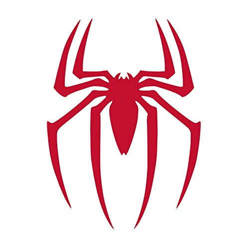 Spider Vinyl Sticker Decals for Car Bumper Window Laptop Tablet Phone (6' x 4.4', Red)