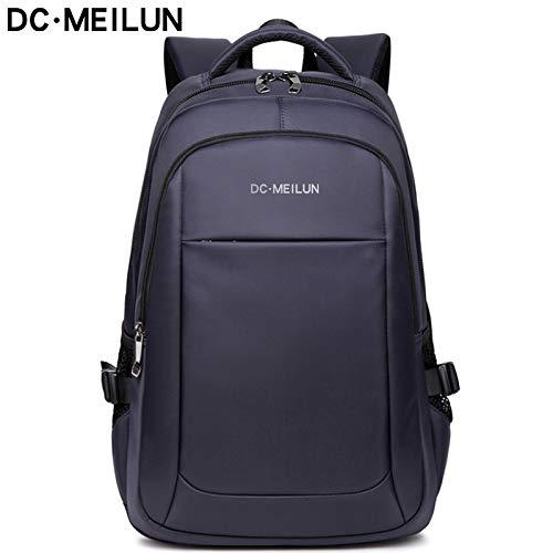De nieuwe Ladung rugzak mode heren rivier business casual laptoptas schoudertas USB-blauw