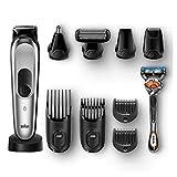 Braun 10-En-1 Tout-En-Un MGK7020 - Tondeuse à cheveux et barbe, Tondeuse Corps, Tondeuse Nez, Mini Rasoir, Tondeuse De Précision, Noir/Argent