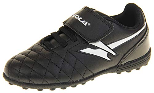Gola - Activo 5 - Botas de fútbol infantiles, para césped aritficial, zapatillas para deporte, color Negro, talla 24 EU