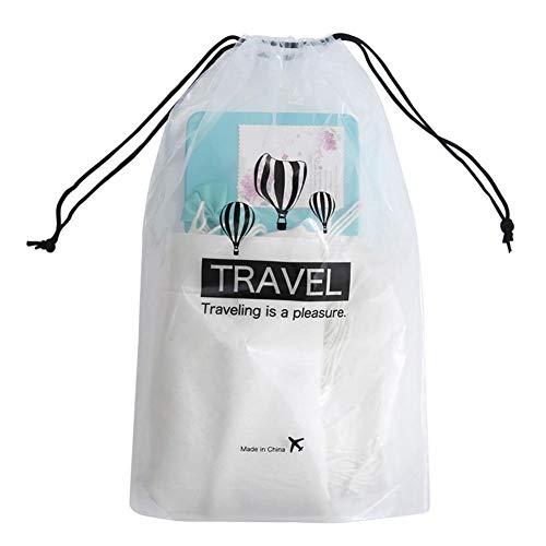 sunflowerany - Bolsa de Aseo de Viaje con cordón, 5 Unidades, Transparente, Bolsa de cosméticos con cordón, Bolsa de PVC Impermeable para Zapatos, Organizador de Maquillaje, baño