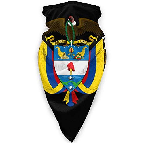 Mascarilla para exteriores con emblema nacional de Colombia