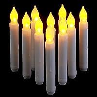 Senza fiamme e fresco al tatto, può essere tranquillamente usato attorno a bambini e animali. Le lampade a candela di Natale senza fiamma riempiono la tua casa di un bagliore soffice, caldo e ambientale. Queste candele luminose sono di dimensioni tal...