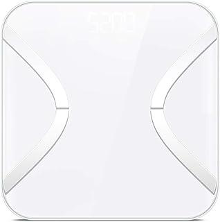 Wghz Básculas por Bluetooth Análisis del Cuerpo Medidas de la báscula de baño Grasa Corporal Agua Corporal Masa ósea Masa Muscular e IMC 8 Memoria del Usuario 400 lb/180 kg Capacidad
