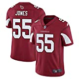 Rugby Jersey Football Jersey pour Hommes Saint Louis Cardinals # 55 Jones Mesh Jersey T-Shirt Polo Shirt Unisexe Training Shirts Respirant Lâche Séchage Rapide Confortable-Red-XL(188-193)