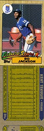 1987 Topps Bo Jackson Rookie WRONG BACK ERROR Card Very Rare Vintage Card over 25 Years Old! Shipped in Ultra Pro Top Loader to Protect it!
