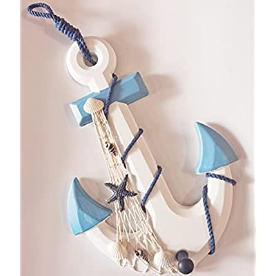Amazon Promo Code for inch Nautical Wooden Anchor with Rope Fishing Net 07102021113622
