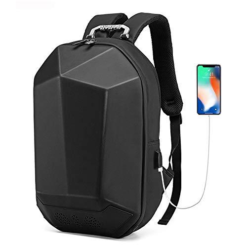 sandy Capacidad Mochila para Portátil con Música Bluetooth y Puerto de Carga USB Inteligente, Mochila Informal Impermeable para Negocios/Universidad/Mujeres/Hombres,Negro