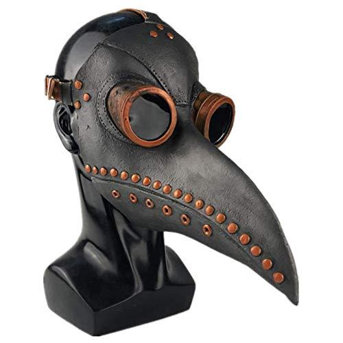 Vicabo Plague Doctor Mask Long Nose Beak Bird Mask Halloween Steampunk Cosplay Party Props