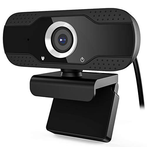 MK Webcam 1080P Full HD con Microfono, PC Laptop Desktop Computer USB 2.0 Full HD Webcamera con Clip Regolabile per Videochiamata, Studi, Conferenze, Registrazione e Giochi