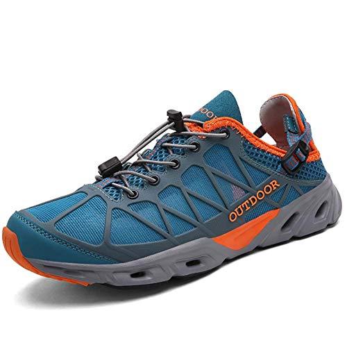 XIEZI Chaussures de randonnée pour Femmes Chaussures de Trekking en Plein air Chaussures de randonnée Sportive Chaussures d'alpinisme Respirantes Chaussures antidérapantesBlue orange-42