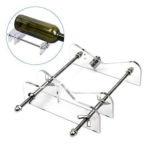 KKmoon Cortador de Botellas de Vidrio,Tamaños Ajustables,Máquina Metal de Corte de Botellas de Vidrio, para Hacer Decoraciones DIY