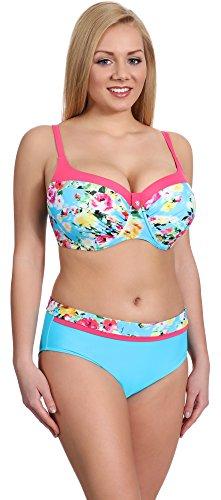 Merry Style Conjunto Bikini Sujetador y Bragas Bañador 2 Piezas Mujer P190-57MIA (Patrón-2, EU(Top 75 H / 38)=ES(90H/40))