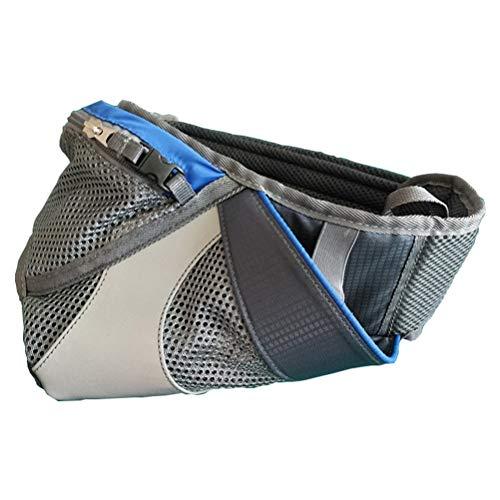 LIOOBO Maratón para Correr Bolsa de Cintura Paquete de Cintura Impermeable Bolso multifunción Bolsa de Caldera Bolsa de teléfono Fanny Pack para Gimnasio 10 Pulgadas (Azul)