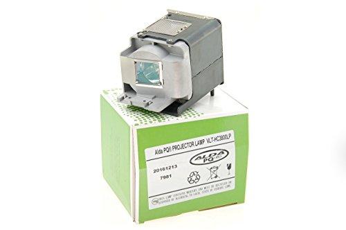 Alda PQ-Premium, Beamerlampe / Ersatzlampe kompatibel mit 499B056O20, VLT-HC3800LP für Mitsubishi HC3200, HC3800, HC3900, HC4000 Projektoren, Lampe mit Gehäuse