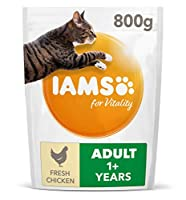 Cat food with 87 percent of animal protein to support seven signs of healthy vitality Wheat free pet food with no fillers, artificial colours, flavours or GMOs Antioxidant blend with Vitamin E to help support the immune system of your cat Crunchy kib...
