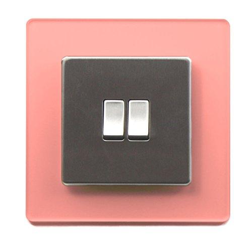 Single Light Switch Surround Acrylic Finger Plate Panel Socket - 59 COLOURS