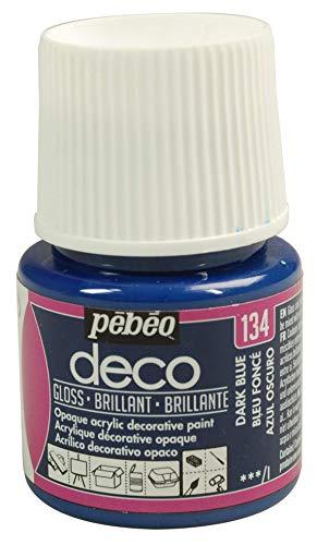 Pébéo Deco Peinture 45 ml Brillant Bleu Fonce 092134