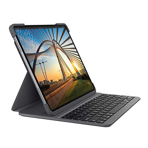 Logitech SLIM FOLIO PRO mit Hintergr&beleuchtung, Bluetooth-Tastatur-Hülle, für iPad Pro 12,9 Zoll (3. & 4. Generation) (Modell: A1876, A1895, A1983, A2014) Deutsches QWERTZ-Layout