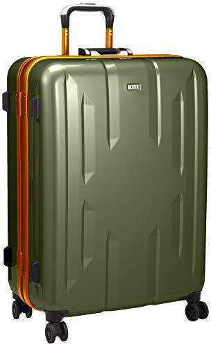 [ゼット・エヌ・ワイ] スーツケース ラウビル 06382 ACE製 フレームタイプ サイレントキャスター 90L 66 cm 5.2kg カーキ×オレンジ