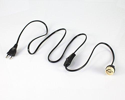 showking Lampenfassung mit Kabel, Fassung GU10 - Netzkabel/Stecker/Schalter/Lampensockel
