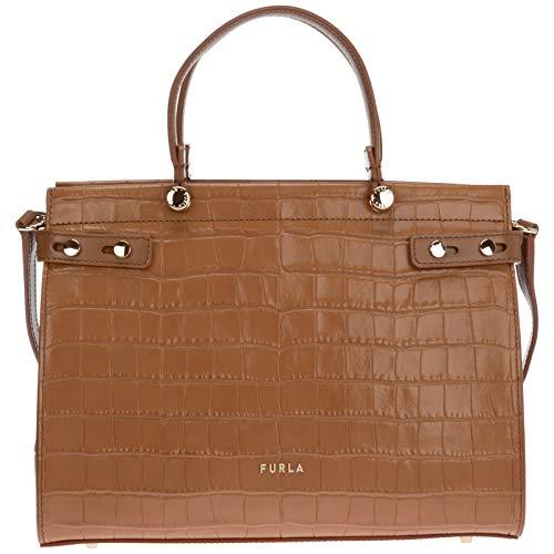 Furla women Lady m handbags cognac