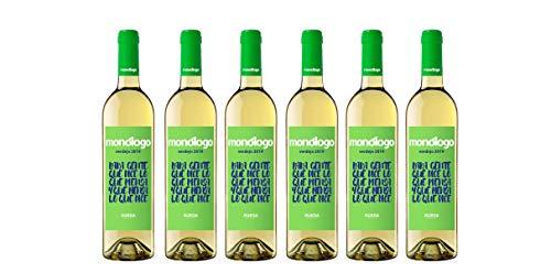 Monologo Vino Verd.Blanco de 12.5º - 750 ml - Pack de 6 botellas - 4500ml