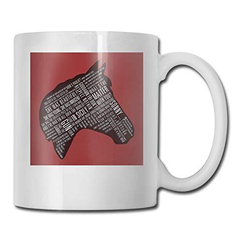 NA Padrino - Copas de cerámica con Estampado de Citas de Cabeza de Caballo Código 330ml