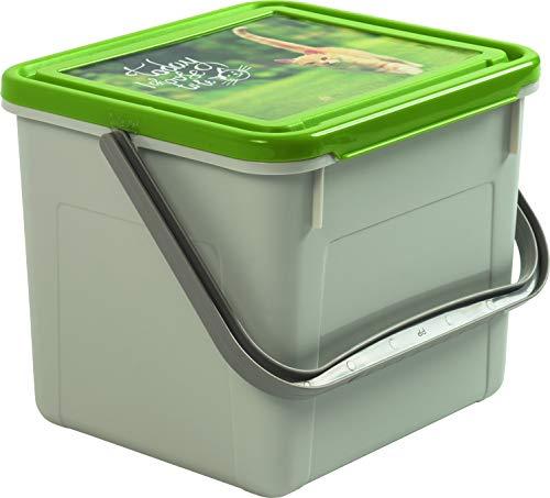 Rotho 4550410536 - Recipiente para comida con asa y diseño en tapa, 2,8 kg de alimento
