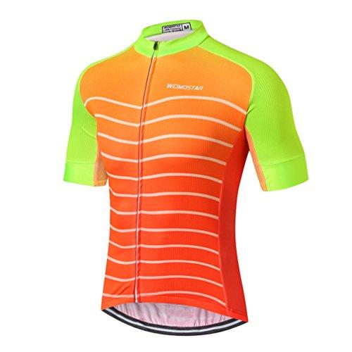 Weimostar - Maillot de ciclismo para hombre -  Gris -