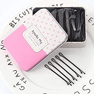 adult bangs hairpin hair pin comb claw child hair clip top folder korean dish made hair coil twist small edge hair clip barrette hairpin women girls headdress word folder black (sparks fly