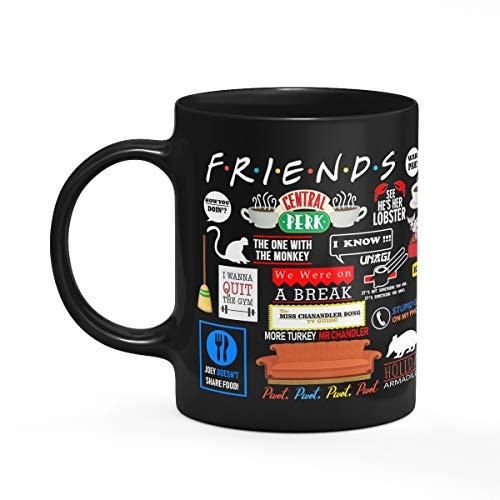 Caneca Friends Icons Moments - Preta