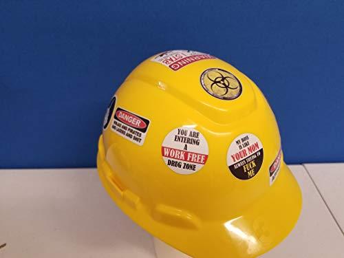 58 Pack of Crude Humor Hilarious Hard Hat Prank Decal Joke Sticker Funny Laugh Construction LOL